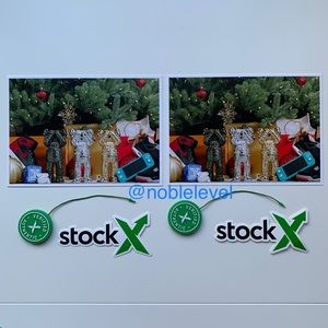 2 Verified Authentic StockX Tags, Stickers, Cards